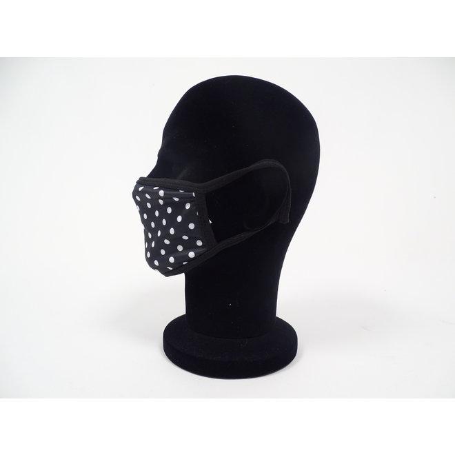 Mondmasker Zwart Wit (Wasbaar)
