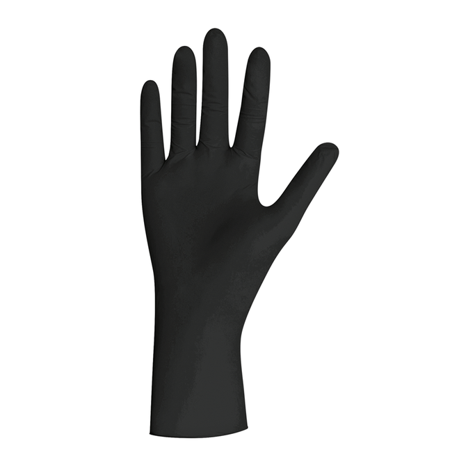 Handschoenen zwart, pearl nitril, poedervrij, XS, S, M, L, XL