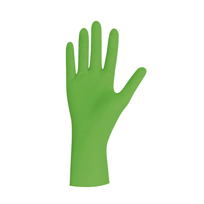 Handschoenen groen, pearl nitril, poedervrij, XS, S, M, L, XL