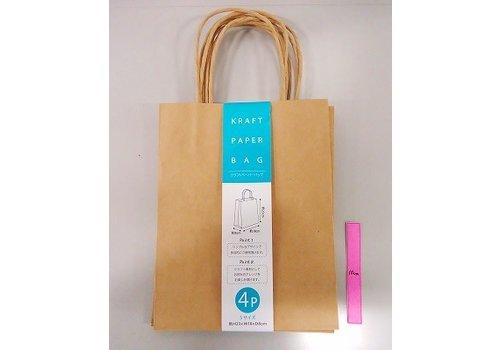 Craft paper bag S 4p
