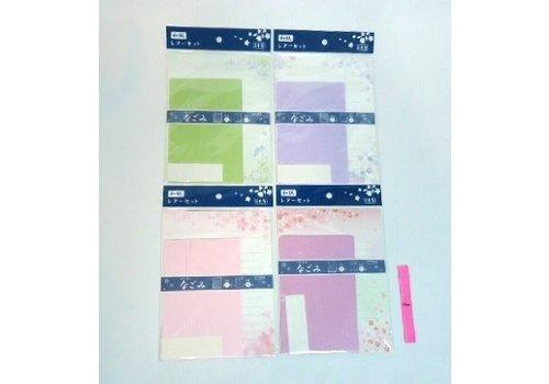 Japanese crape paper letter set 4prs