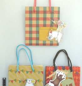 Pika Pika Japan Paper bag animal with pocket and mascot