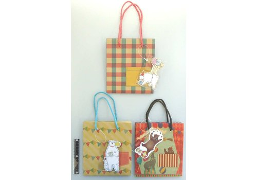 Paper bag animal with pocket and mascot