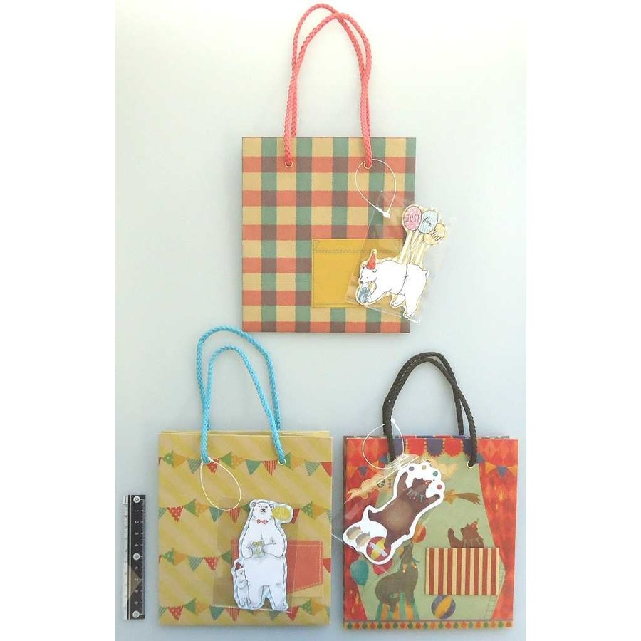 Paper bag animal with pocket and mascot-1