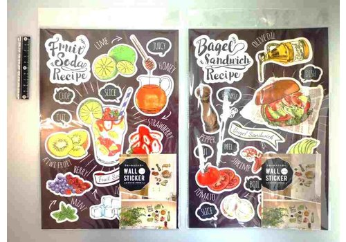 Wall sticker recipe