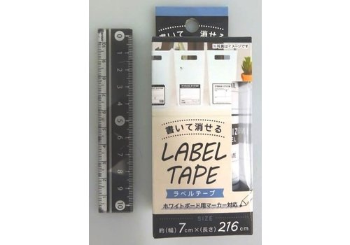 Erasable label tape vintage