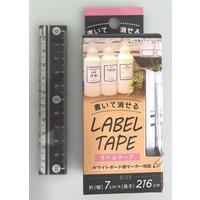 Erasable label tape elegant