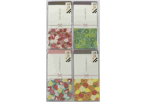 Japanese taste multi purpose petit money envelope modern fruits 6p
