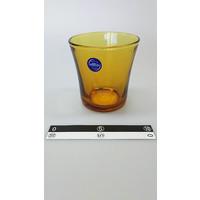 Oranje transparant glazen bekertje