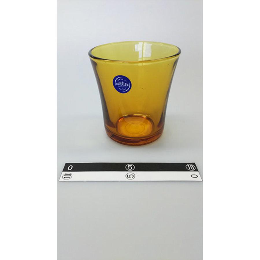 Oranje transparant glazen bekertje-1