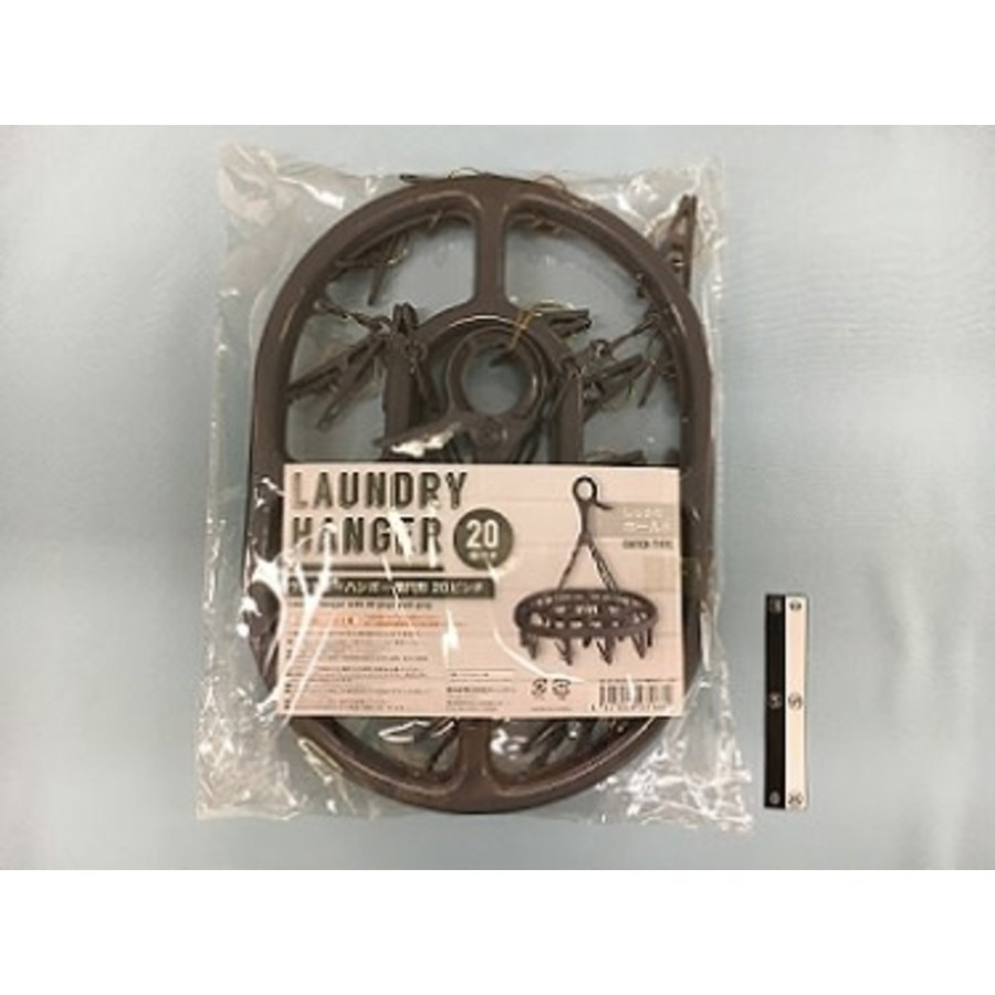 Laundry hanger oval gray 20p : PB-1