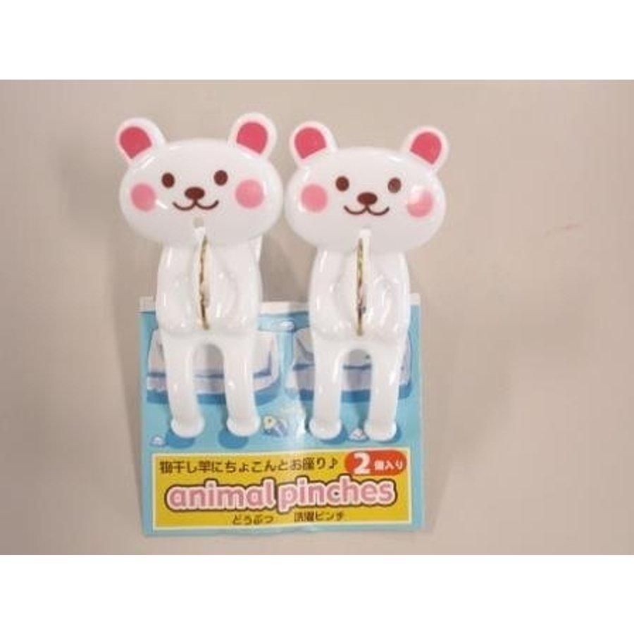 Plastic clothespin, bear, 2p-1