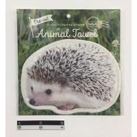 Die-cut towel hedgehog