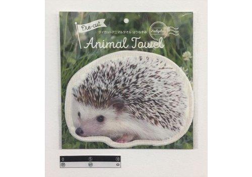Die-cut animal towel hedgehog : PB