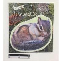 Die-cut animal towel?Squirrel : PB