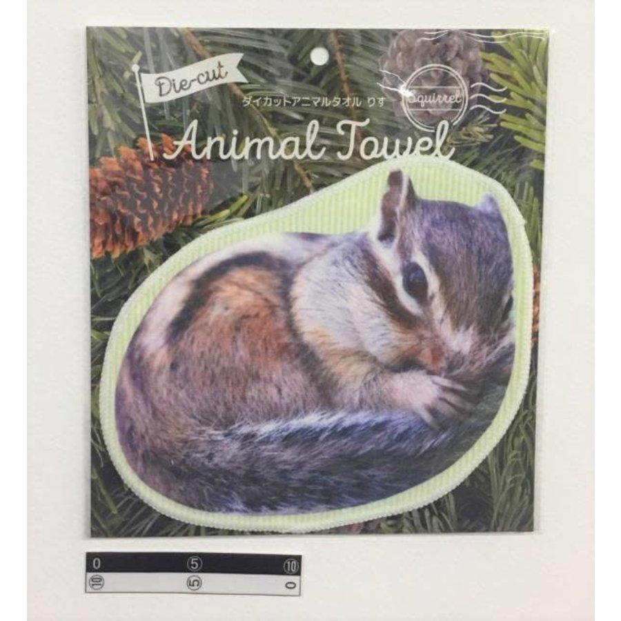 Die-cut animal towel?Squirrel : PB-1