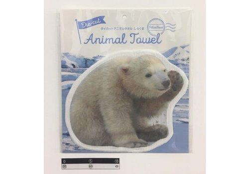 Die-cut towel polar bear