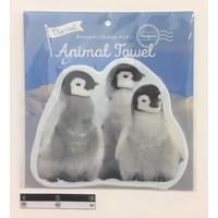 Die-cut animal towel penguin : PB