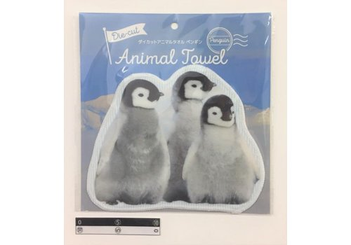 Die-cut towel penguin