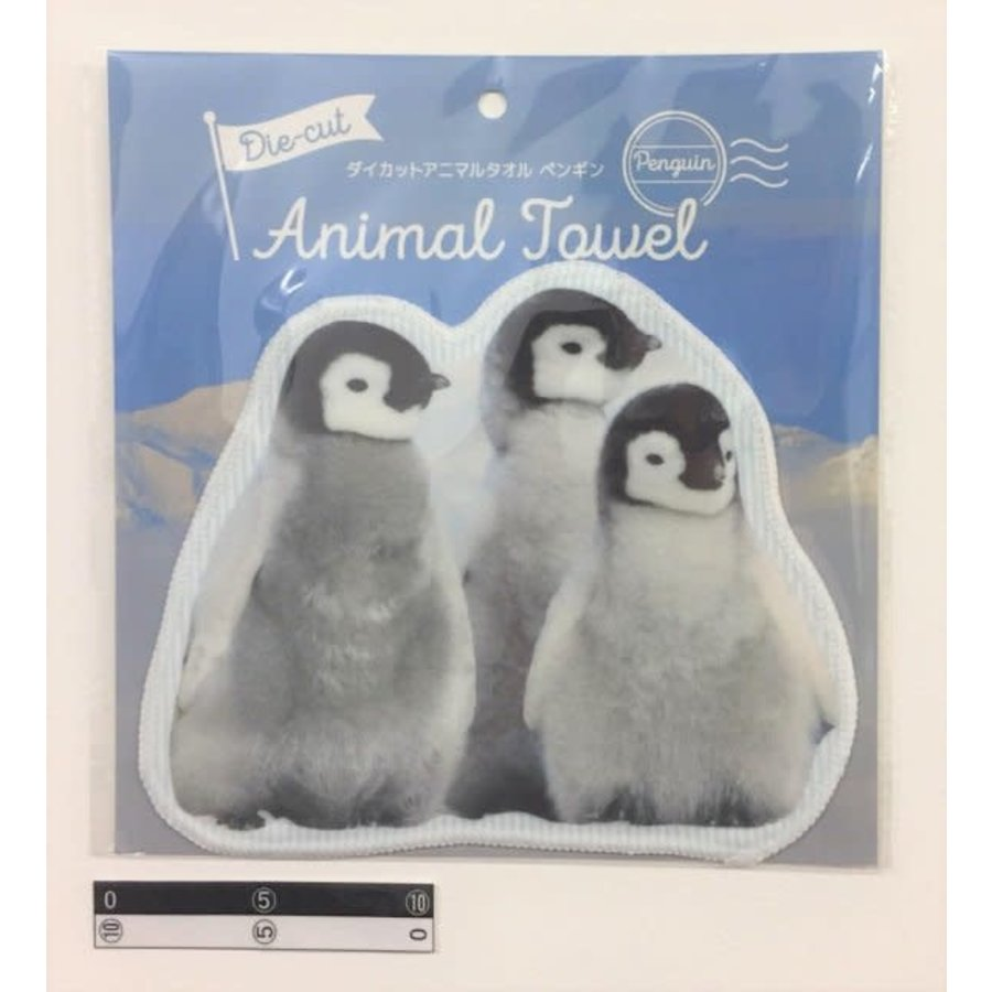 Die-cut animal towel penguin : PB-1