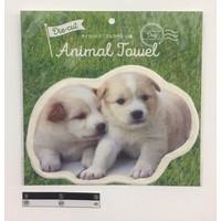 Die-cut animal towel dog : PB
