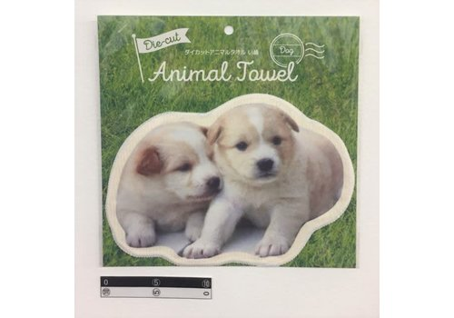 Die-cut towel dog