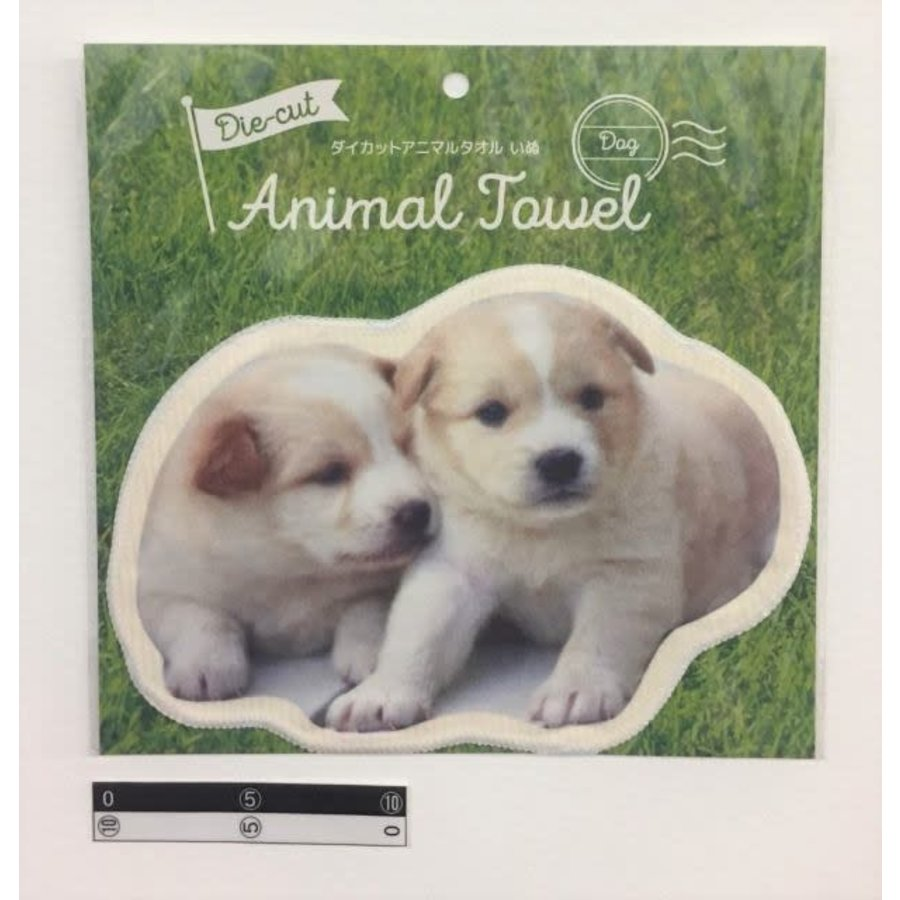 Die-cut animal towel dog : PB-1