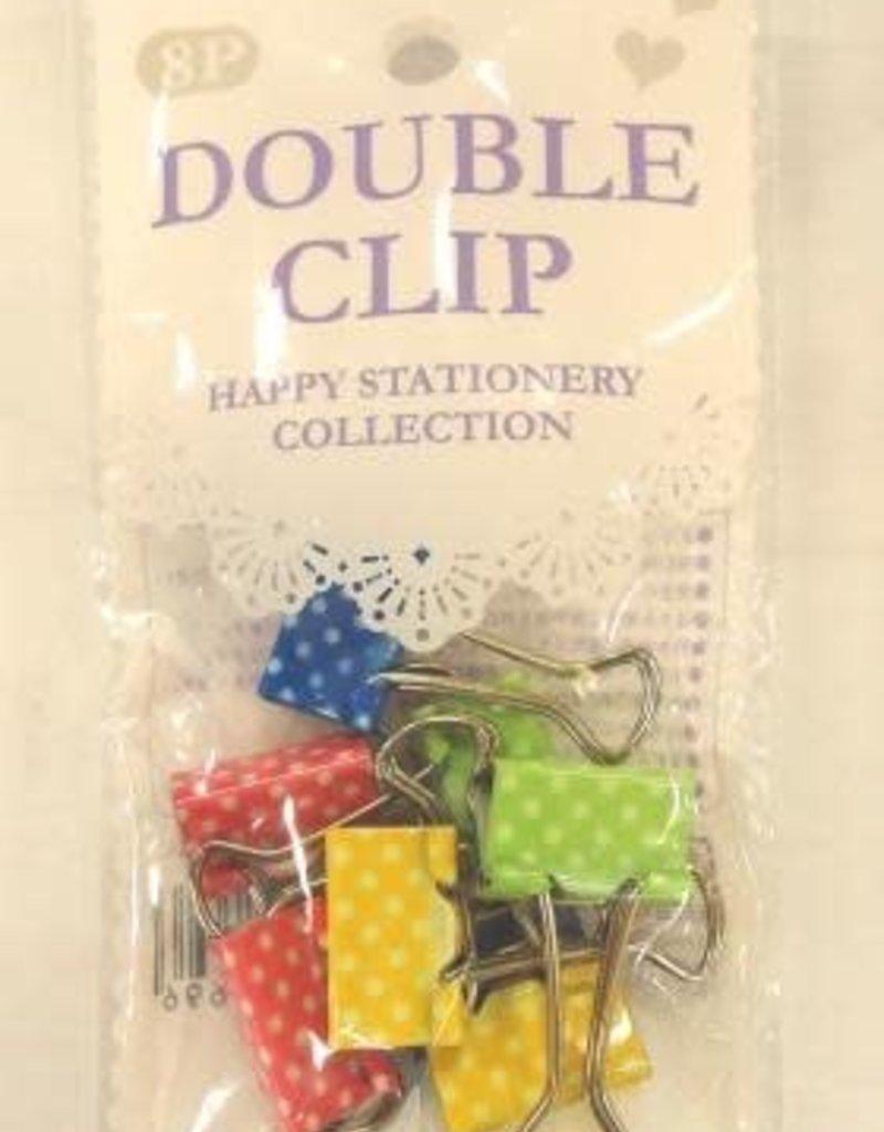 Pika Pika Japan 19mm double clip 8p dot : PB