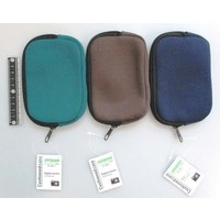 Soft zipper pouch for compact camera, horizontal