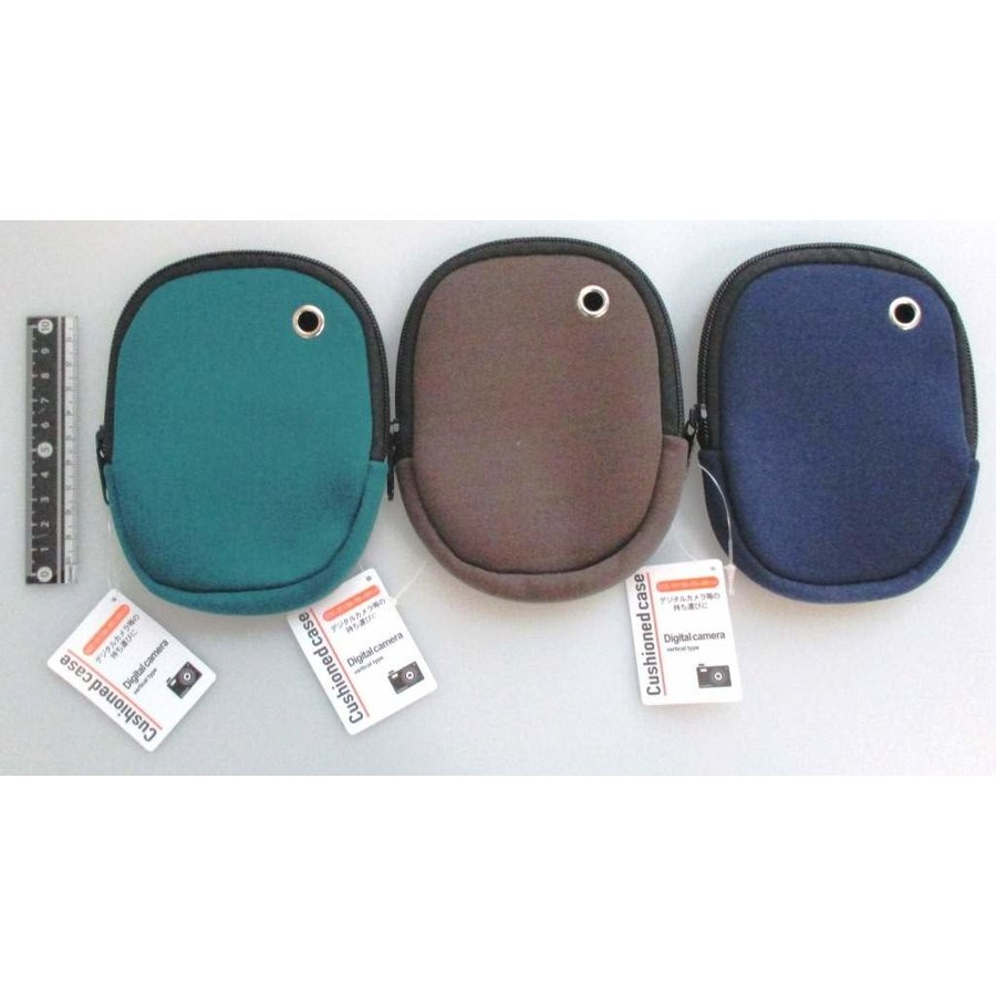 Soft zipper pouch for compact camera, vertical-1