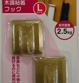 Pika Pika Japan Plastics sticking hook L wood type
