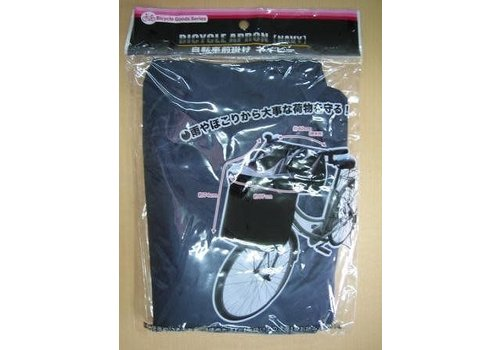 Bike Front Basket Cover Check Navy
