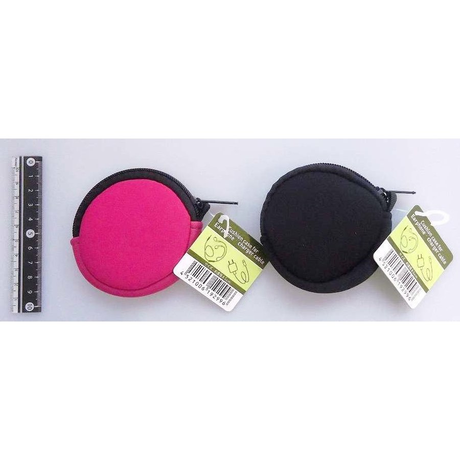 Cushion case for earphone & charger : PB-1