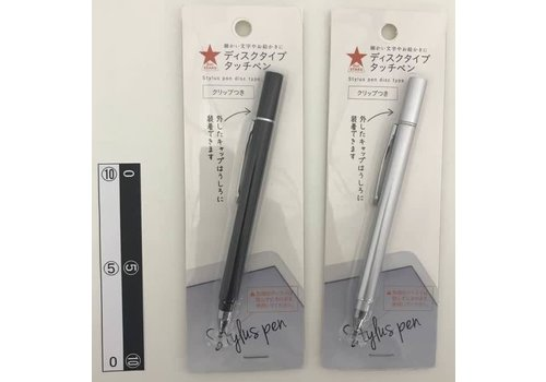 Disc type touch pen with clip DO