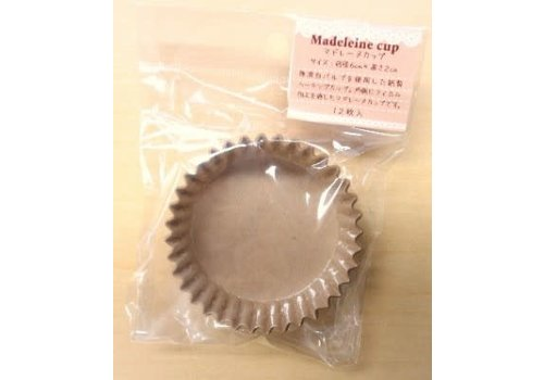 Baking cup for madeleine, 12p