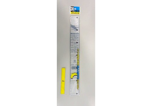 30CM RULER WITH STAINLESS EDGE