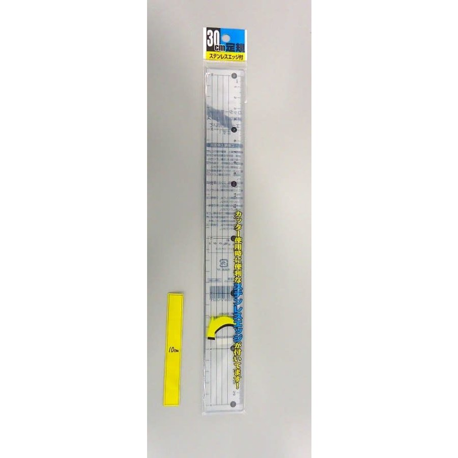 30CM RULER WITH STAINLESS EDGE-1