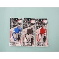 Carabiner & ball point pen with reel A : PB