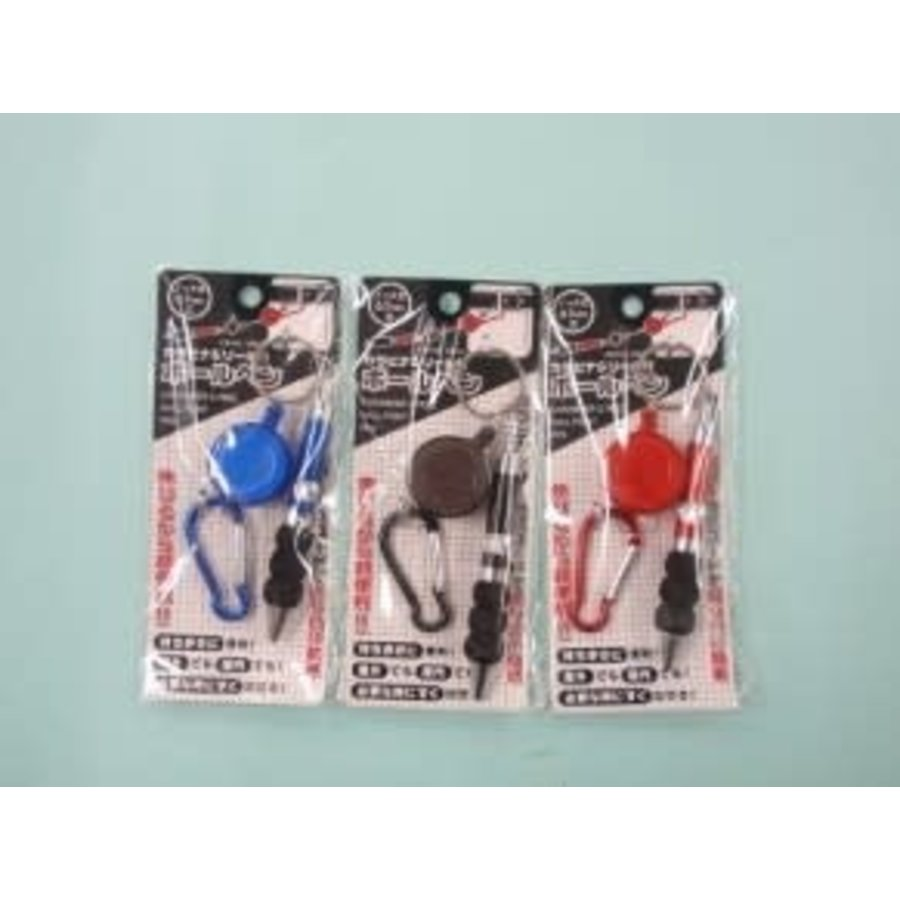 Carabiner & ball point pen with reel A : PB-1
