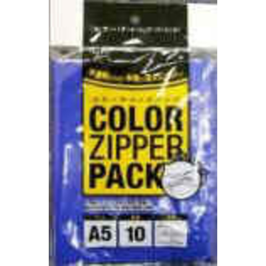 Colored (invisible inside) slider pouch, A5, 10p-1