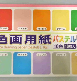 Pika Pika Japan Color drawing paper L(pastel) 10p : PB