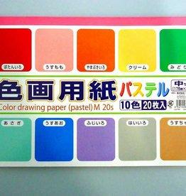 Pika Pika Japan Color drawing paper M(pastel) 20p : PB