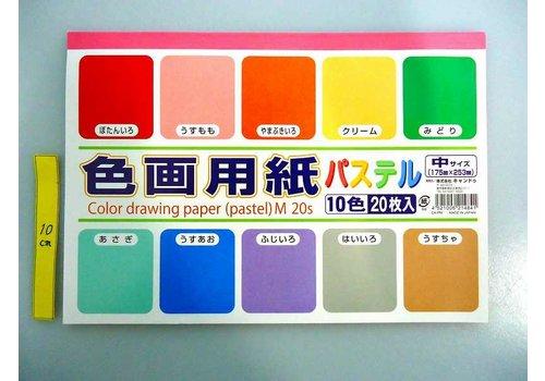 Color drawing paper M(pastel) 20p : PB