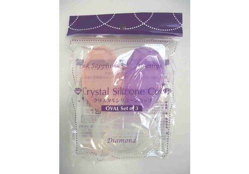 Crystal silicon cup 3p oval : PB