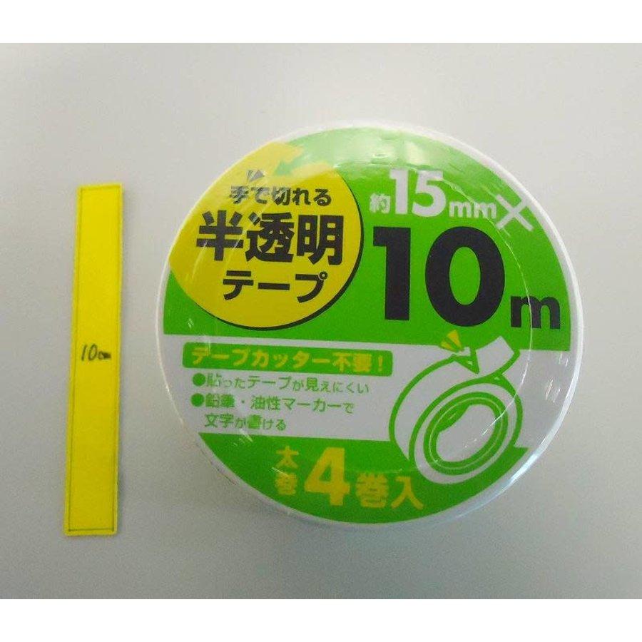 Half transparent tape 15mm thick roll 4p : PB-1
