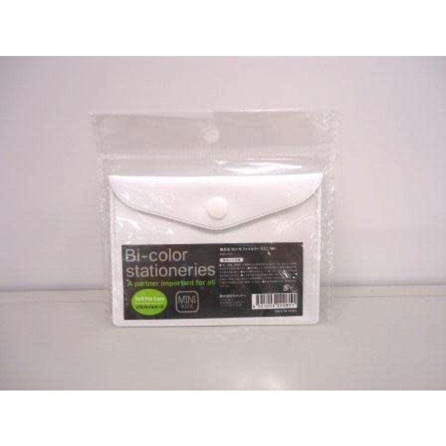 Button pouch, mini, white-1