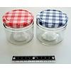 Pika Pika Japan Glass canister check pattern S : PB