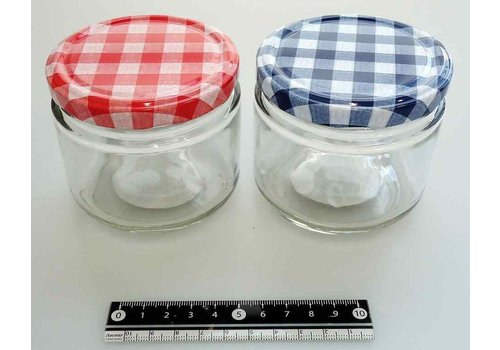 Glass canister check pattern S : PB