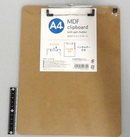 Pika Pika Japan MDF clip board A4 with pen holder : PB