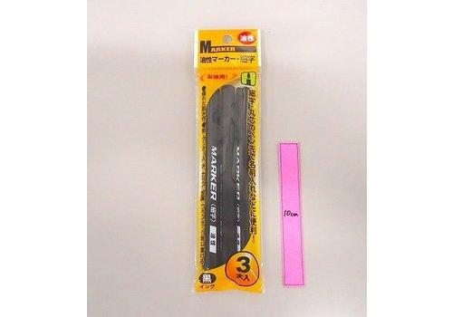 Oil-based pen black 3p